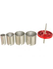 Набор коронок по керамической плитке 33-53-67-73мм