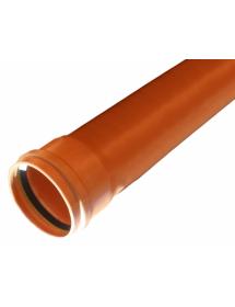 Труба ПВХ рыжая 160*1000