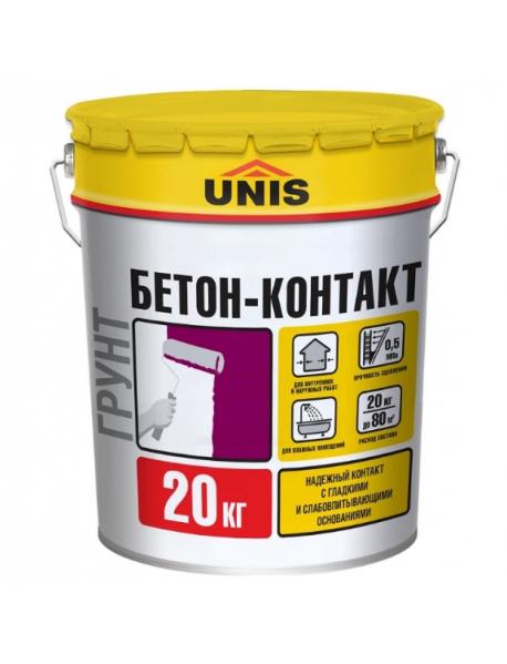 Юнис грунтовка бетоноконтакт 20 кг.