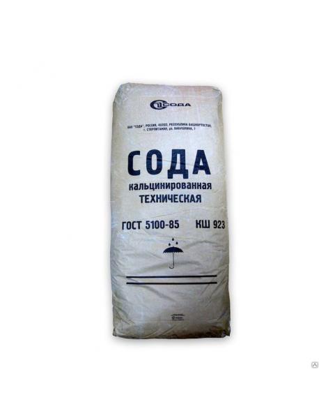 Сода кальцинированная, мешок 25кг