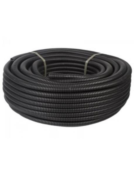 Труба ПНД гибкая гофр. 25мм, 50м, черный цвет ДКС