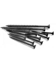 Саморез черный редкий шаг 4,2*75(76)мм