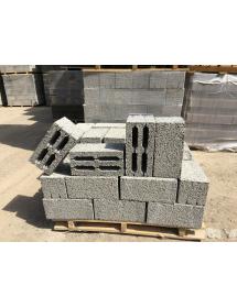 Блок стеновой пустотелый 390*190*188 (Пескоблок щелевой)