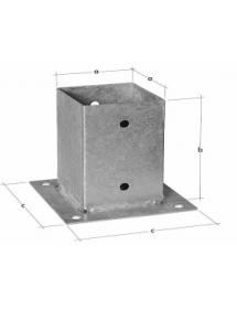 Стакан приварной ст 3 200*100*100*4 мм