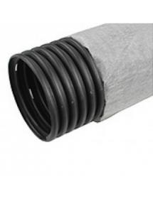 Труба одностенная ПНД 160/141, 6мм, дренажная с фильтром (бух. 50м)
