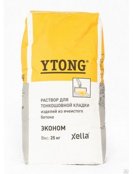 Клей для тонкошовной кладки Ютонг (YTONG) 25кг