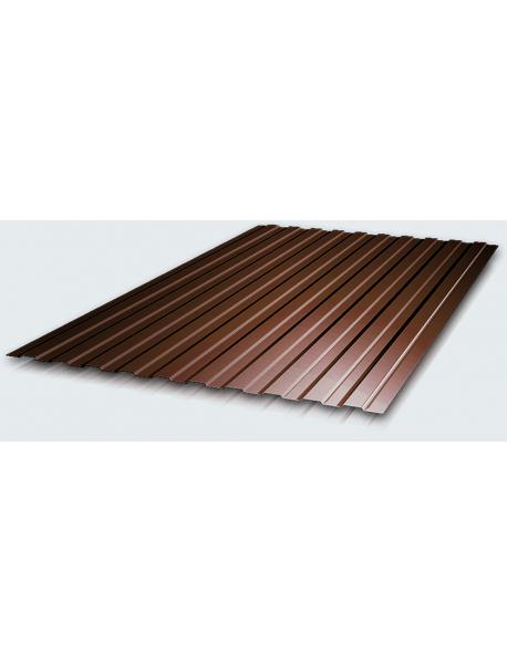 Профнастил С8А 0,4 PE RAL 8017 шоколад 2*1,2 м