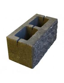 Песко блок 1 стороний- серый пустотелый 390*190*188