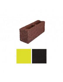 Торцевой стороний- Коричневый, черный,желтый пустотелый 390*190*188