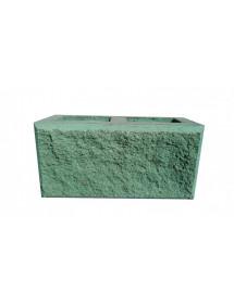 Пескоблок 1 стороний- зеленый пустотелый 390*190*188