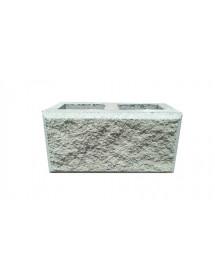 Пескоблок 1 стороний- белый пустотелый 390*190*188
