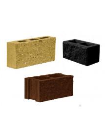 Пескоблок 1 стороний- Коричневый, черный,желтый пустотелый 390*190*188